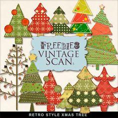 Freebies Retro Style Christmas Tree