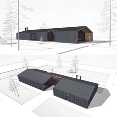 No photo description available. Shed Design, Building Design, Building A House, House Design, Modern Barn, Modern Farmhouse, Residential Architecture, Modern Architecture, Micro House