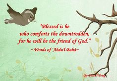 A Baha'i quote from the holy writings of Abdu'l-Baha.