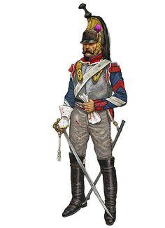 """""""Brigadiere della 4ª compagnia del 1º squadrone del 1º reggimento di corazzieri (corazzieri del re), Waterloo 1815"""", Giorgio Albertini"""