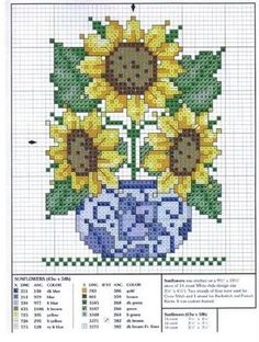 sunflowers cross stitch.