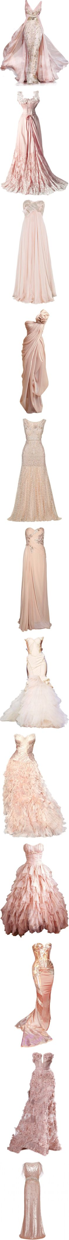 """""""Gowns Pink/Peach"""" by altagal ❤ liked on Polyvore"""