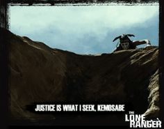 Justice is What I Seek Kemosabe. Click on this image to see the  animated #GIF.   #theloneranger #the lone ranger #loneranger #lone ranger #JohnnyDepp #johnny #depp #armiehammer #armie hammer