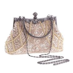 2017 New designer floral women evening bags fashion beaded clutch purse female luxury wallet and handbags lady shoulder pouches Beaded Purses, Beaded Bags, Beaded Clutch, Purses Boho, Trendy Purses, Black Handbags, Purses And Handbags, Cheap Handbags, Luxury Handbags