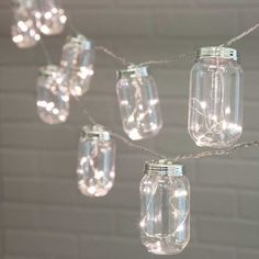 Mason jar string lights are the summer must-have! Arrange this set above your festive party, at your backyard barbecue or at your outdoor wedding.
