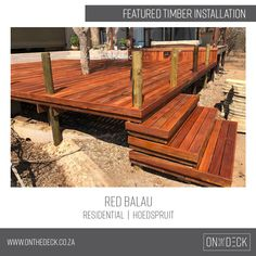 Balau timber is the decking material of choice in humid and wet environments. Decking Material, Timber Deck, Wood, Outdoor, Outdoors, Woodwind Instrument, Timber Wood, Trees, Outdoor Games