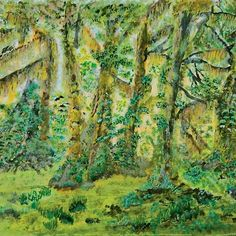 Into the woods. createarthistory, library_vic, redbubble, acrylics, landscape, nature, trees, history, old, woods, color, botanical, wallart, chalenge, contest, forest, life, green, yellow, grey, brown, decoration, home, accessories, clothes, tshirts, design, painting, drawing, illustration, art,