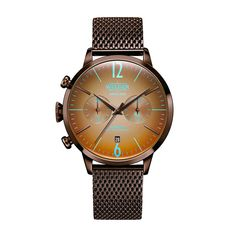 Unisex μοντέρνο ρολόι WELDER WWRC804 Moody με πορτοκαλί καντράν 7d31e778081