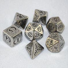 Metal Steampunk Dice (Set of 7)