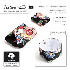 """Porte-monnaie / bourse """"CAILLOU"""" n°47 /// E-shop: www.alittlemarket.com/boutique/14h14 /// Shop: Kaleïdo Store, 13 rue St-Georges à Rennes"""