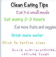 tips healthy eating