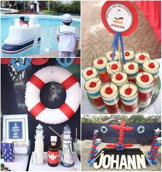 Nautical Themed Party with LOTS of CUTE Ideas via Kara's Party Ideas
