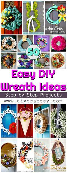 Diy spring and summer wreaths diy wreaths spring summer home diy wreath projects 50 easy diy wreath ideas diy crafts solutioingenieria Images