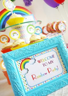 Rainbow Birthday Party Printables Supplies