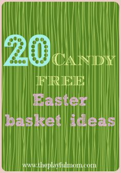 20 Candy free Easter basket ideas #easter #popular #theplayfulmom
