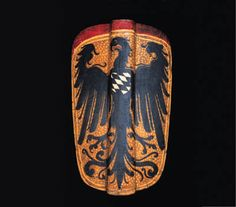 A GERMAN HAND-PAVISE LATE 15TH/EARLY 16TH CENTURY
