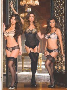 The Kardashian Sisters Sexy Lingerie