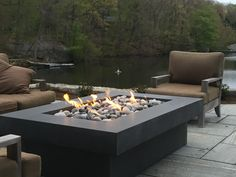 Olson Fire Table Concrete Firepit by concretewavedesign on Etsy