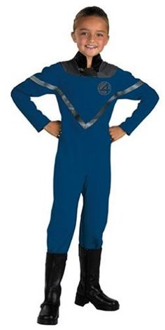 Fantastic Four Invisible Woman Standard Child Costume $22.99 only on Amazon! #Halloween #costumes #Amazon