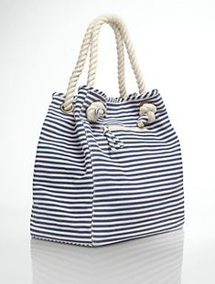Browse our modern classic selection of women's clothing, jewelry, accessories and shoes. Talbots offers apparel in misses, petite, plus size and plus size petite. Nautical Outfits, Creative Bag, Fabric Purses, Travel Wardrobe, Tote Pattern, Summer Essentials, Casual Bags, Cotton Bag, Tote Handbags