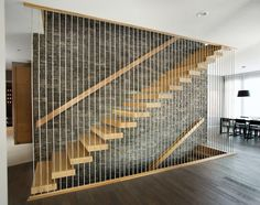 suspended staircase staircase modern with white oak stair treads