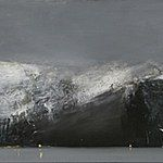 Ørnulf Opdahl: Fjordlandskap, 70 x 240 cm Etchings, Oslo, Painters, Norway, Landscapes, Rocks, Artists, Black And White, Abstract