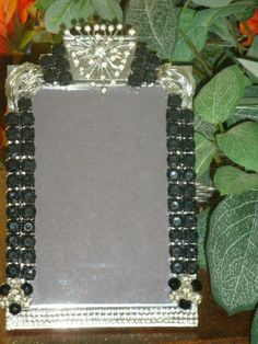 Vintage jewelry embellished frame Drama Queen by FLBling on Etsy, $65.00