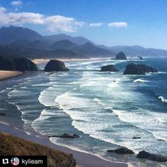 This is the stunning Ecola State Park in Oregon - it's gorgeous but there are plenty more spots equally beautiful but less well known along this stretch of coast. Image by @kylieam by travellerau