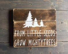 Animal Tracks Sign Hunting Sign Nursery Decor by threadandwood1
