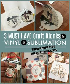 6cf293cd How to Use the Same Blanks and Designs for Sublimation and Vinyl! (Plus  Free Templates!)