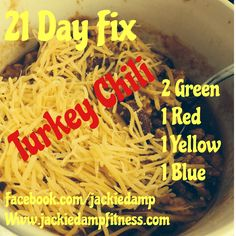 Turkey Chili 21 day fix approved!