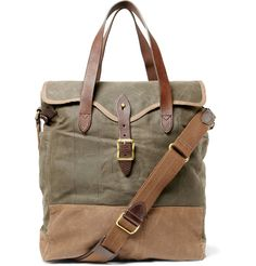 Waxed-Cotton Tote Bag - love this - it's supposed to be a man bag.but I would quite happily tote it. Rugged Style, Designer Totes, Designer Handbags, Cotton Tote Bags, Couture, Leather Bag, Purses And Bags, Messenger Bag, Mens Fashion