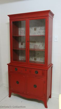 Chrissie's Collection~ Paint Portfolio ~ China cabinets. red china cabinet