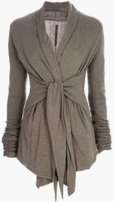 Oh, I want this! Graceful Gray Light Weight Wrap Up Cardigan