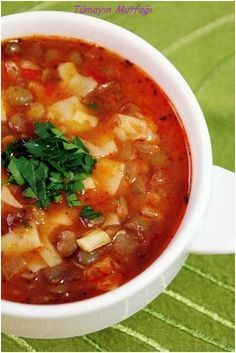 Food and drink soups Food N, Good Food, Food And Drink, Yummy Food, Turkish Recipes, Italian Recipes, Ethnic Recipes, Greek Cooking, Cooking Time