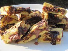 ΜΑΓΕΙΡΙΚΗ ΚΑΙ ΣΥΝΤΑΓΕΣ 2: Cookies ταψιού με γέμιση μερέντας !!! Biscuit Cookies, Biscuits, French Toast, Sweet Tooth, Bakery, Pork, Ice Cream, Sweets, Meat