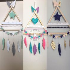 Home Crafts, Diy And Crafts, Arts And Crafts, Diy For Kids, Crafts For Kids, Felt Crafts, Paper Crafts, Dream Catcher Craft, Baby Decor