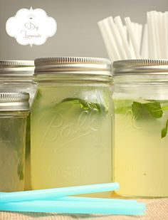 DIY lemonade for the summer party - wedding madness - be inspired, Summer Cocktails, Cocktail Drinks, Fun Drinks, Yummy Drinks, Healthy Drinks, Beverages, Oreo Smoothie, Smoothie Drinks, Smoothies