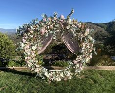 Excited to share this item from my #etsy shop: Luxury Circle Arch Blush Wedding Flowers, Blush Wedding Swags, Circle Wedding Arch Flowers,Eucalyptus Circle Arch Decor, Wedding Flower PKG