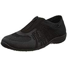 zapatillas skechers mujer negras sin cordones uk 08