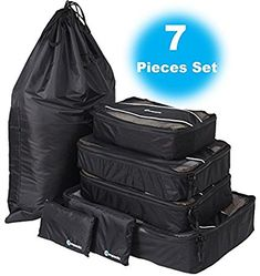 Packing Cubes (7 Piece Set) – Lightweight Travel Organizer – Compact Travel Packing Cubes for Any Trip – Pack Like A Pro With These Travel Packing, Luggage Organizer – Amazing Packing Cube Set