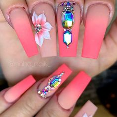 Coffin Nails Designs With Pink Gradient ❤ 35+ Magnificent Coffin Nails Designs You Must Try ❤ See more ideas on our blog!! #naildesignsjournal #nails #nailart #naildesigns #nailshapes #coffinnails #balerinanails #coffinnailshapes Dope Nails, Fun Nails, Coffin Shape Nails, Nude Color, Cool Nail Art, Beautiful One, Nail Tips, Nailart, Nail Designs