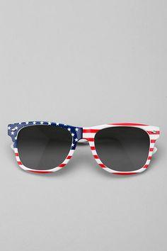 Urban Outfitters Flag Wayfarer Sunglasses