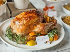 Citrus and Herb-Roasted Turkey With Gravy:  http://www.hgtv.com/handmade/tips-for-hosting-a-thanksgiving-potluck-dinner-plus-how-to-set-up-a-to-go-station/pictures/page-3.html?soc=pinterest