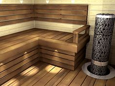 Nagare D laude Sauna Design, Sauna Room, Spa Rooms, Saunas, Sweet Home, Stairs, Outdoor Decor, Gardening, Inspired