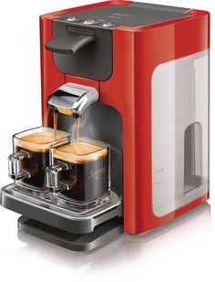 Senseo Coffee pod system - coffee makers (freestanding, Pod coffee machine, Coffee beans, Red)