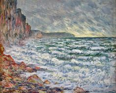 Claude Monet - The Sea at Fécamp (1881)