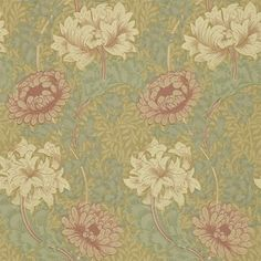 Shop for Wallpaper at Style Library: Chrysanthemum by Morris & Co. 'Designed by William Morris in 1877 'Chrysanthemum' is available . Wallpaper Pink And Yellow, Pink Wallpaper, Fabric Wallpaper, Wallpaper Roll, Pink Yellow, Apple Wallpaper, Mind The Gap, Morris Wallpapers, Victorian Wallpaper