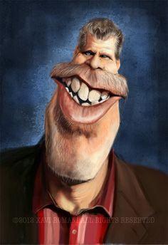 Imagenes de caricaturas de famosos del cine                 RON PERLMAN