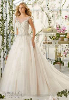 Wedding Dresses And Gowns By Morilee Featuring Intricate Crystal Beaded Embroidery Decorates The Tulle Ball